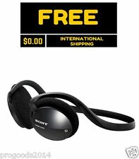 Sony G45 Neckband Behind The Neck Cool Stereo Headphones Black MDR On ear New