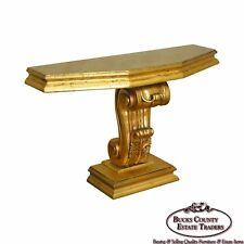 Hollywood Regency Vintage Gold Leaf Console Table
