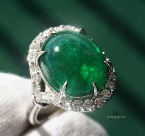 Emerald Ring Diamond Gold 14K Natural Real GIA Certified 11.74CTW RETAIL $14,600