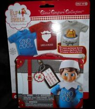 THE ELF ON THE SHELF DOLL CLOTHES CLAUS COUTURE 3 T-SHIRTS KEEPSAKE SUITCASE NEW