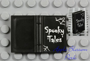 NEW Lego Minifig Black SPOOKY TALES BOOK - Elf Friends Halloween Story 2x3 Book