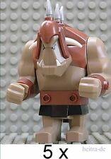 TOP !! LEGO - 5 x Riesen Troll in dunkelsandfarben / cas358 NEUWARE