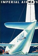 A3 Travel Art Poster Imperial Airways  Australia print