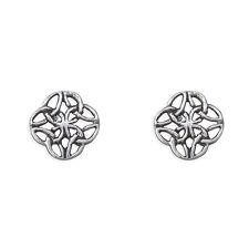 Mens earrings Celtic round square  5mm
