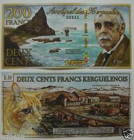 Kerguelen Island Polymer Banknote 200 Francs 2010 UNC