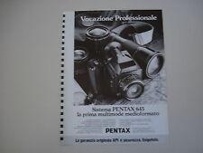 advertising Pubblicità 1985 PENTAX 645
