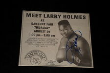 LARRY HOLMES SIGNED AUTOGRAPHED 6X8 NEWSPAPER PHOTO BOXING HOF
