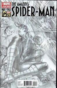 AMAZING SPIDER-MAN #1 ROSS 75TH ANNIV 1:300 SKETCH VARIANT 1st silk cameo