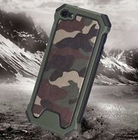 iPod Touch 5th 6th 7th Gen - HARD HYBRID HIGH IMPACT ARMOR CASE CAMO ARMY GREEN