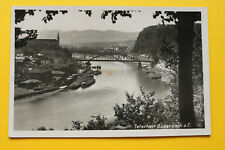 Tschechien CZ AK Tetschen Bodenbach 1937 Děčín Lastkähne Hafen Schiffe Brücke ++