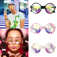 Kaleidoscope Glasses Outdoor Holiday Rainbow Hippy Party Rave Round Sunglasses