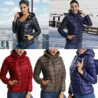 US Womens Duck Goose Down Ultralight Winter Jacket Warm Puffer Coat Packable