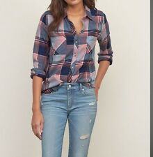 NWT  ABERCROMBIE & FITCH Plaid Flannel Shirt  - women's size S  Small  NEW