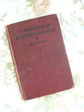 Antique German Grammar Handbook Original Frank Adolph Bernstorff Hardcover 1912