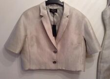BNWT ❤Jaeger ❤️Size 14 Smart Cropped Silver Suit Jacket (42 EU) Weddings Party