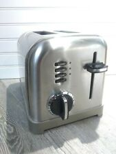 Cuisinart Cpt 160 Metal Classic 2 Slice Toaster Stainless Good Conditions