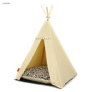 Dog Teepee bed - Panther, dog bed including pillow*luxury dog house*dog tent