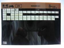 Kawasaki KDX200 1983 Parts List Microfiche NOS k188