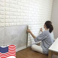 3D Brick Waterproof Wall Sticker Self Adhesive Panel Decal DIY Wallpaper US hot