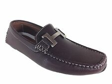 Men Brixton New Leather Driving Casual Shoes Moccasins Slip On Loafers pyne03