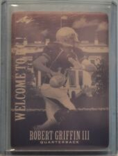 Robert Griffin III Redskins 2012 Leaf Welcome to DC Promo Cyan Printers Plate RC