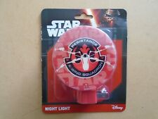 """Star Wars Night Light """"Resistance X-Wing Squadron"""" New In Package"""