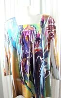 North Style Women's Tunic/Top 3/4 Sleeve Square Neck Size L.