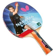 Nakama S-1 - Butterfly Table Tennis Bat with Rubber
