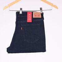 Levi's 505 Straight Mid rise Indigo dunkelblau Damen Jeans 31/30