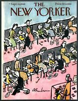 1949 Back to School at Busy Shoe Store art Sept.10 New Yorker Mag COVER ONLY