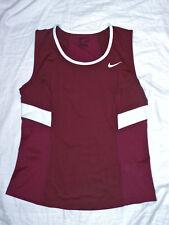 womens NIKE tennis burgundy power tank top shirt size L NEW nwt $40