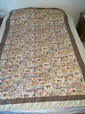 """Quilt Homemade/ Country Gingerbread Man Theme 57"""" X 80"""""""