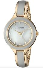 Anne Klein Watch * 2934GYGB Swarovski Crystals MOP Grey & Gold Steel COD PayPal