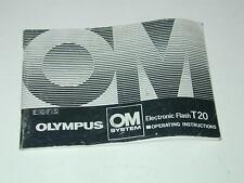 OLYMPUS notice FLASH T20 Français Anglais Allemand Espagnol photo photographie