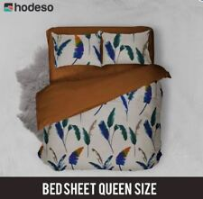 Hodeso Bedsheet Feathers Queen Size With Two FREE Pillow Case