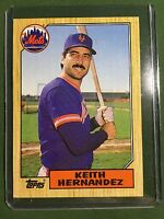 1987 Topps KEITH HERNANDEZ Baseball Card #350  New York Mets MINT Free Shipping!
