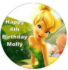 """Tinkerbell Disney Cake Topper Personalised Edible Wafer Paper 7.5"""""""