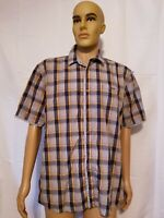 Vintage Seven Diamonds Button Up Shirt Short Sleeve Multi Color Checkered Large