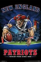NEW ENGLAND PATRIOTS - END ZONE MASCOT POSTER - 22x34 NFL FOOTBALL 15989