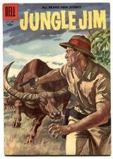 Jungle Jim #10 1956- Dell comics- water buffalo cover VF-