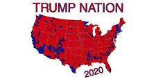 Trump Nation 2020 United States Country Map White Vinyl Decal Bumper Sticker