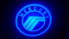 2PC BLUE MERCURY 5W LED EMBLEM DOOR PROJECTOR GHOST SHADOW PUDDLE LOGO LIGHT