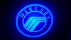 2PC BLUE MERCURY 5W LED EMBLEM DOOR PROJECTOR GHOST SHADOW PUDDLE LOGO LIGHT