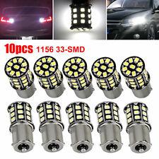 10x Super Bright 66w White 1156 Rv Trailer 33 Smd Led 1141 Interior Light Bulbs