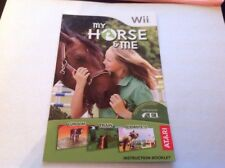 (NO GAME) My Horse and Me Wii Instruction Book Manual Only