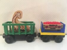 Thomas Train McColl's Farm Apples Cargo Car Tall Friend Giraffe Car Wooden Wood