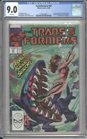 Marvel Comics TRANSFORMERS #47 CGC 9.0 NM (1988) White Pages