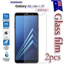 2x Samsung Galaxy A8 2018| A8 Plus & J8 2018 Tempered Glass LCD Screen Protector