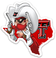 Texas Tech University Red Raider Mascot - logo Type MAGNET