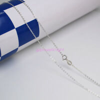 """925 Solid Sterling Silver Curb Chain Necklace 16""""18""""20""""22""""24""""26"""" Inches Ladies"""